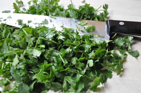 Cilantro, chopped.
